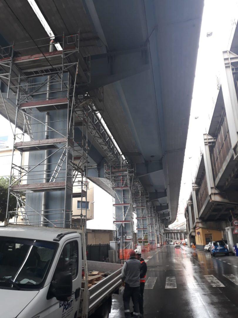 12 Ponteggioper piloni Viadotto autostradale Genova - Ponteggioper piloni Viadotto autostradale