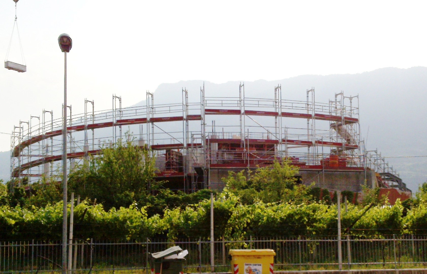 13 Ponteggio per costruzione impianti digestione Rovereto TN - Gerüste für die Industrie