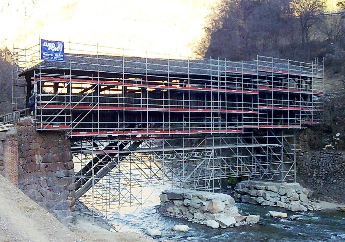 14 Ponteggio sospeso Ponte Toerggele Chiusa BZ 1 - Ponteggio sospeso Ponte Toerggele