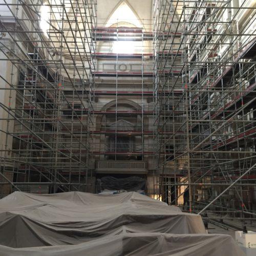 2 Ponteggio mobile su ruote per restauro interno chiesa Bassano 500x500 - Referenzen