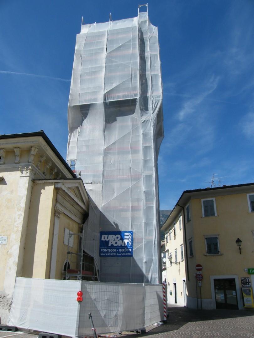 5 restauro Torre Civica Borgo Sacco TN - RESTAURIERUNG DES STADTTURMS