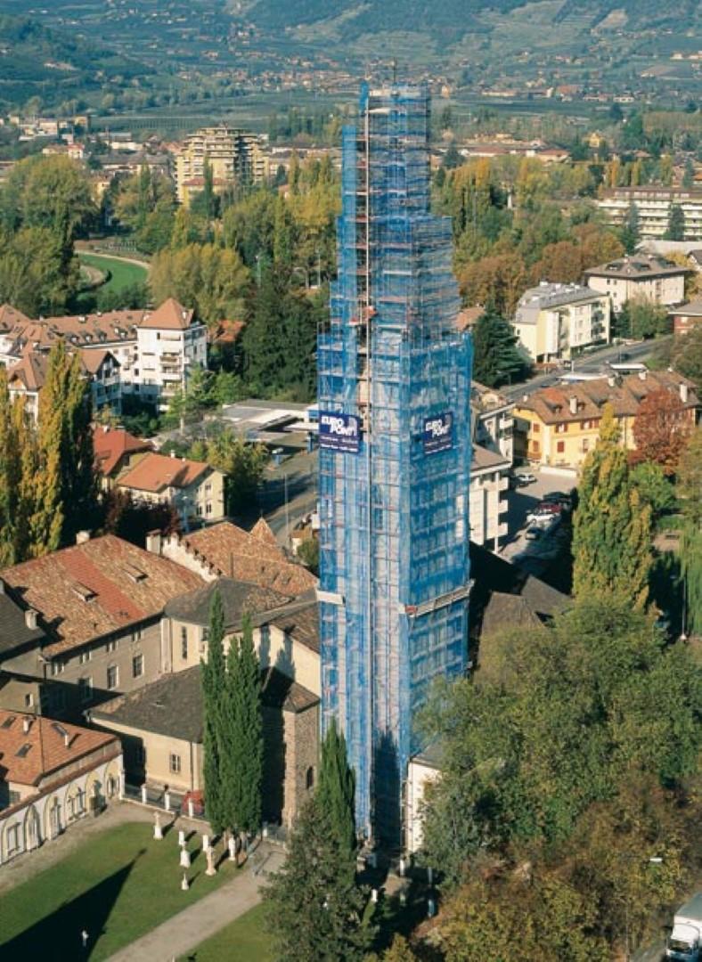 6 Restauro campanile chiesa S. Vigilio MERANO - Restauro campanile chiesa