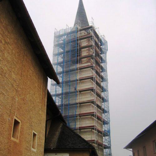 7 restauro campanile chiesa DAMBEL TN 500x500 - Restauro campanile chiesa