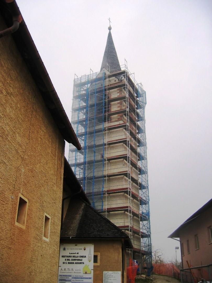7 restauro campanile chiesa DAMBEL TN - Restauro campanile chiesa