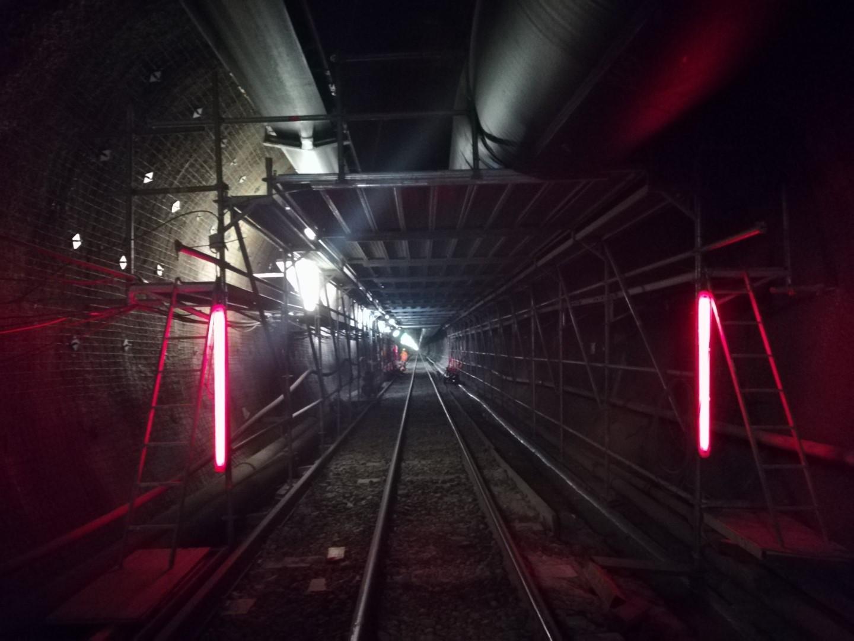 8 Trabatello mobile per Cunicolo esplorativo Tunnel del Brennero - Ponteggi per edilizia e infrastrutture